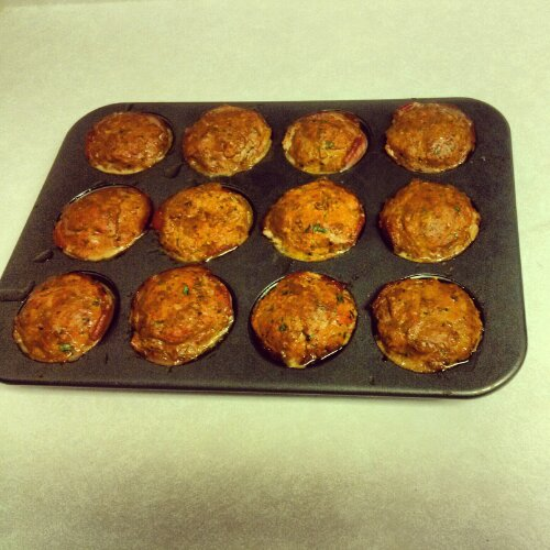 Bacon Meatloaf Muffin