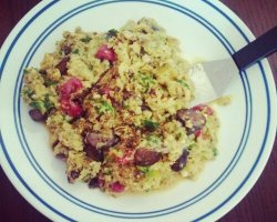 Bacon Veggie Scramble
