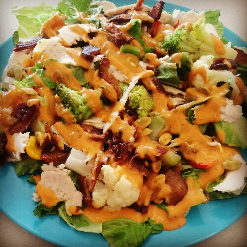 Bacon Smoked Turkey Salad