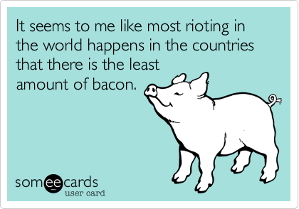 Bacon Riots Ecard