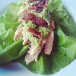 Bacon Salmon Lettuce Wrap