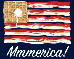Bacon American Flag