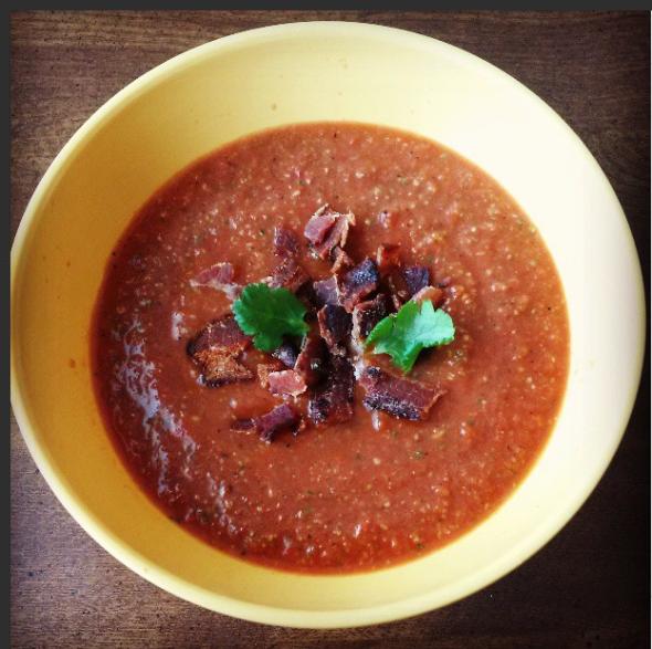 Bacon Gazpacho Soup