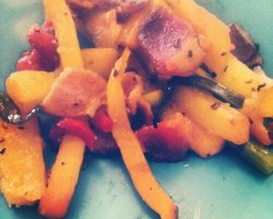 Bacon Rutabaga Saute