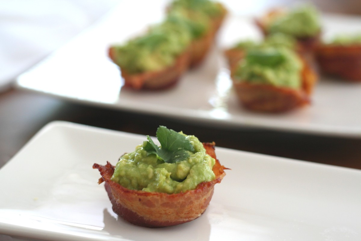 "Mini Bacon Guacamole Cups - Guest Post from ""All Day I Dream About Food"""