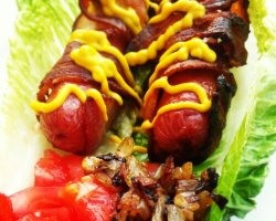 Bacon-Wrapped Hot Dog