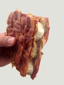 Elvis peanut butter banana bacon sandwich